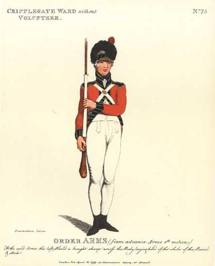 Cripplegate Ward without. Volunteer of London military print.