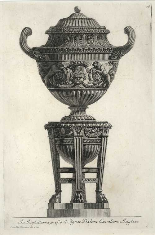Stunning Piranesi etching of Vase & Cinerary Urn, c1778.