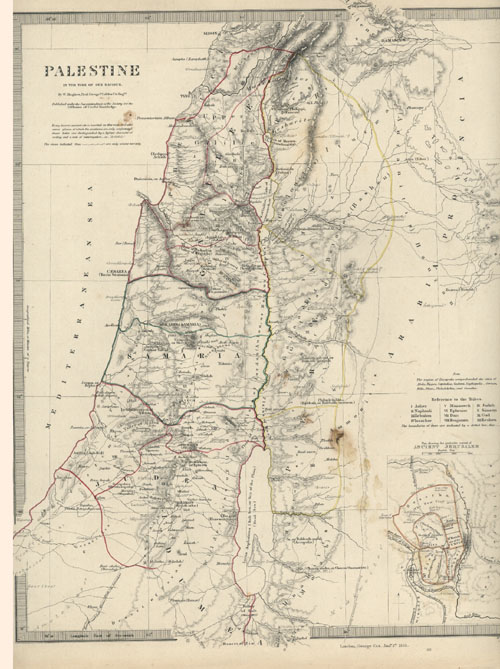PALESTINE in the time of our Saviour. c1843