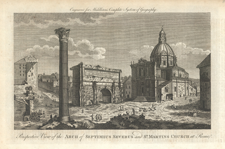 Perspective View of the Arch of Septimus Severus c1778