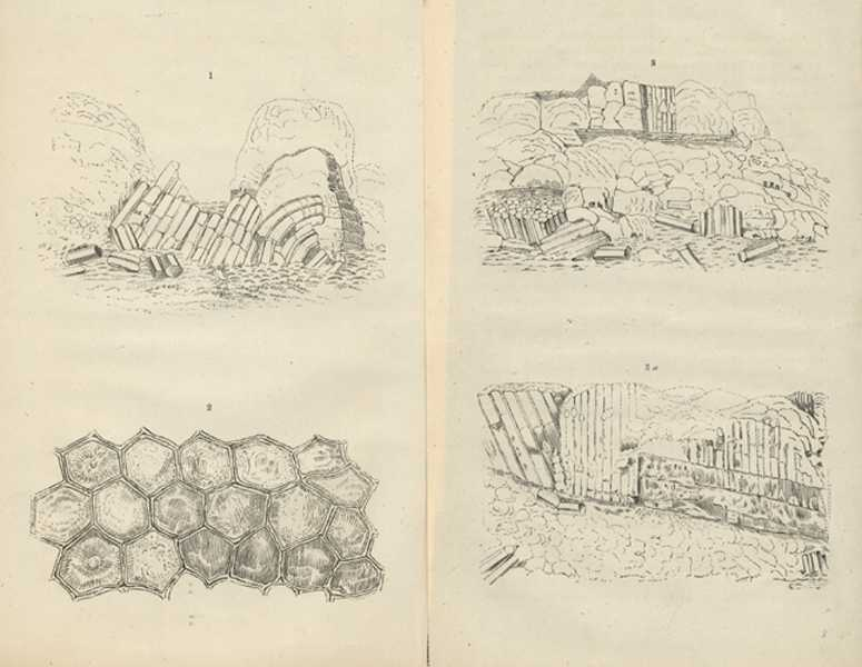 Gold Formations. Gold Deposits. Mineralogy antique engraving. Sherer c1853.