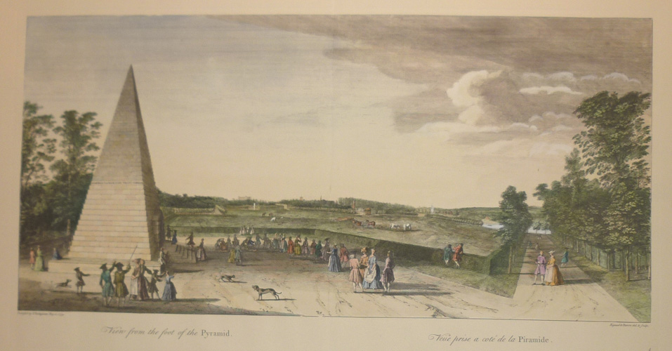 Large fine hand-coloured reproduction print of landscaping at Stowe.cape.