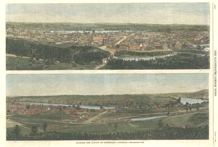 Brisbane, the Capital of Queensland, Australia. Rare c1866.