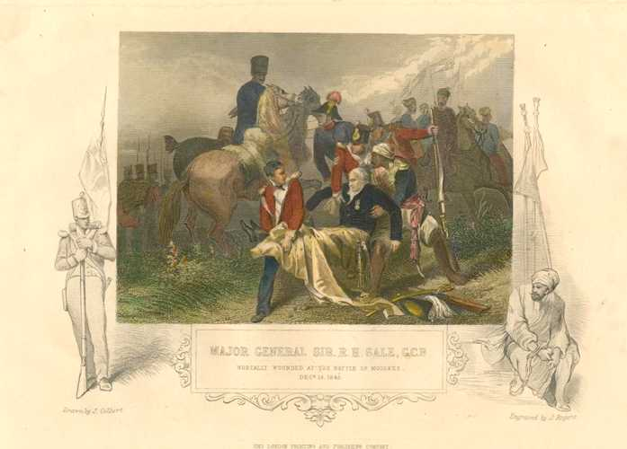 Major General Sir R.H. Sale GCB. Tallis engraving c1856