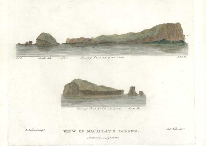 Macaulay's Island north-east of New Zealand. Kermadec Islands.