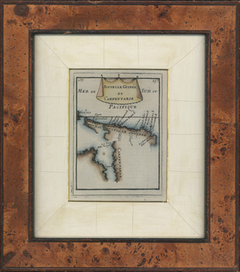 FRAMED 17thC map. Carpentaria and Papua New Guinea c1683.