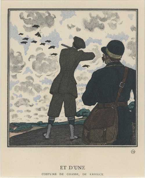 "Hunting-Shooting. And Got One: ""Et d'Une"". Fashion c1922"