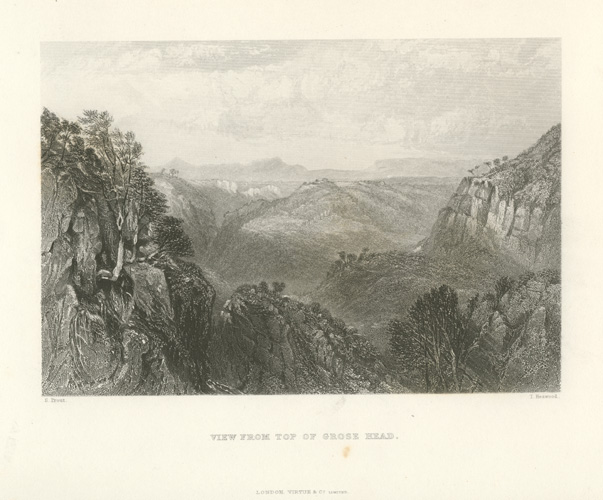 Blue Mountains View from top of Grose Head c1874.