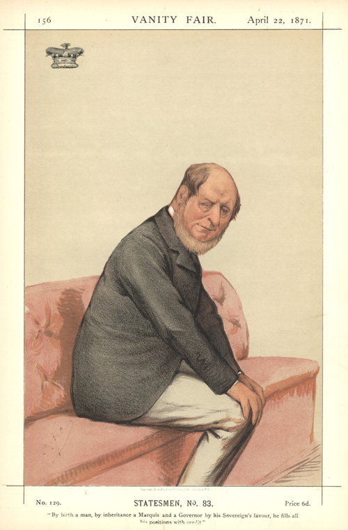 Queensland Governor, Lord Normanby. Vanity Fair Caricature. Ape, 1871.