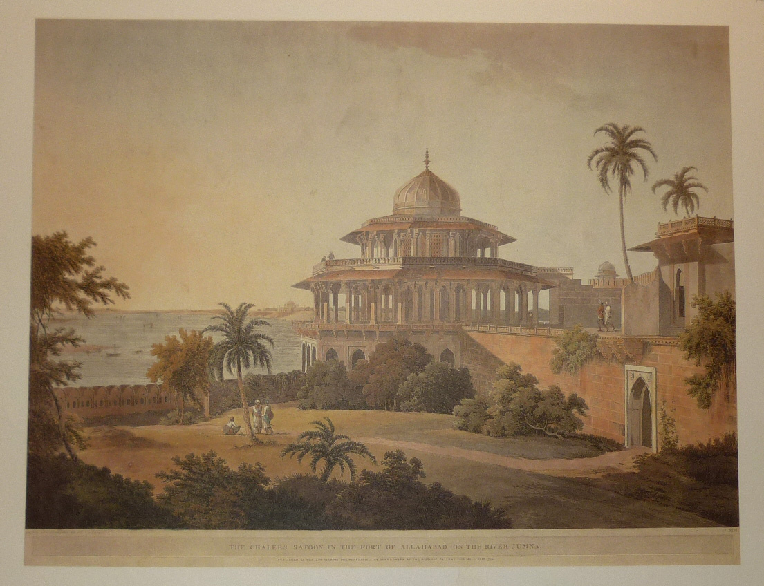 Chalees Satoon in Fort of Allahabad on River Jumna.Print.