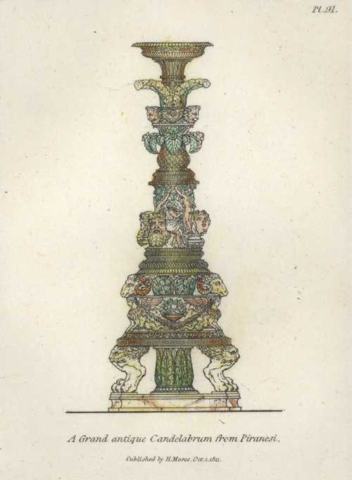Grand antique Candelabrum from Piranesi. Henry Moses, c1811