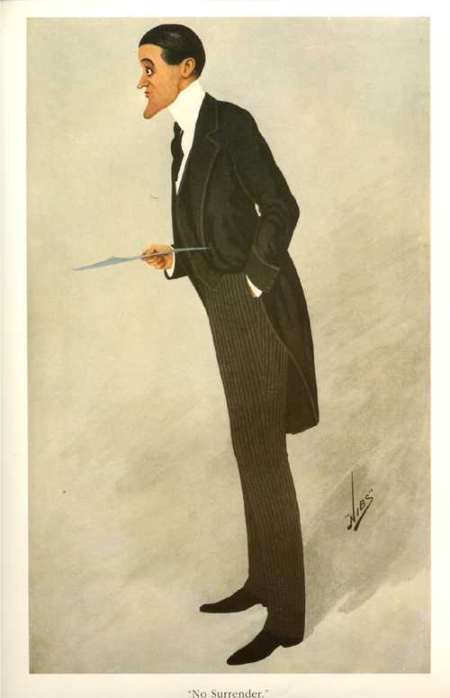 No Surrender. Rising barrister, Vanity Fair caricature print.