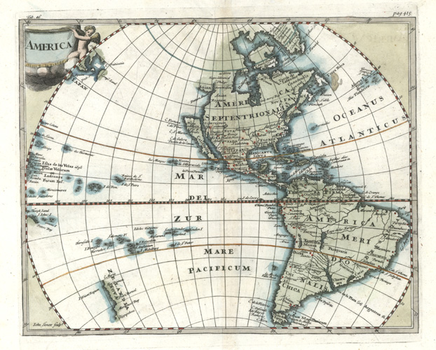 America with California as an Island. Cluver c1711