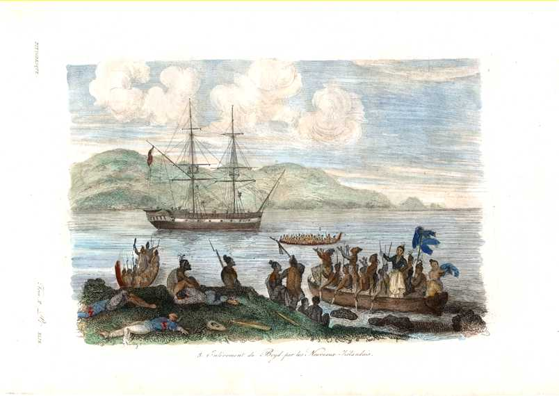 NZ. Removal of Boyd by the Maoris. c1835