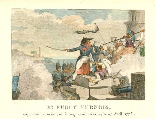 General Nas. Furcy Vernois, Capitaine du Genie. French military engraving c1810.