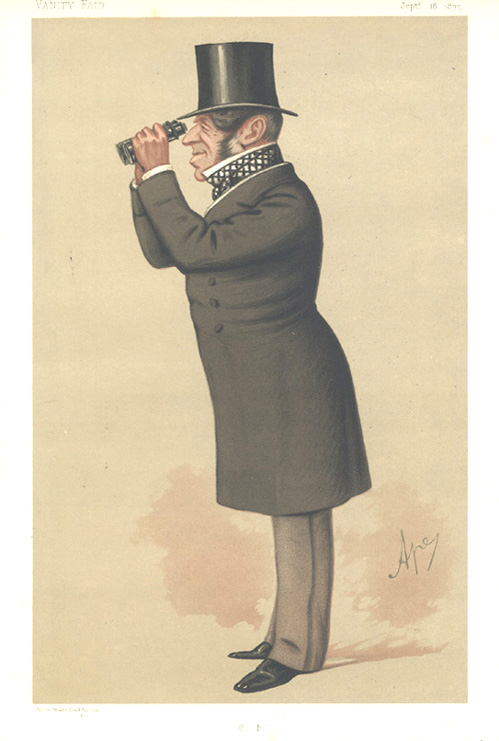 """G.P."" Vanity Fair caricature of Mr George Payne, Men of the Day CIX. c1875"