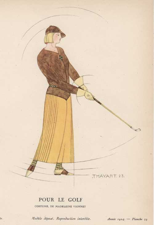 Pour le Golf. Lady in Golf Clothes. Thayaht c1924.