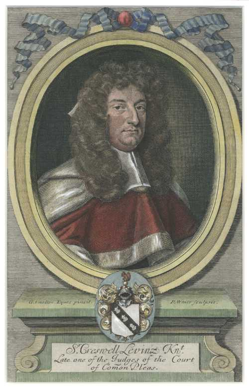 Legal. 18th century portrait. Sir Creswell Levinz by Gottfried Kneller