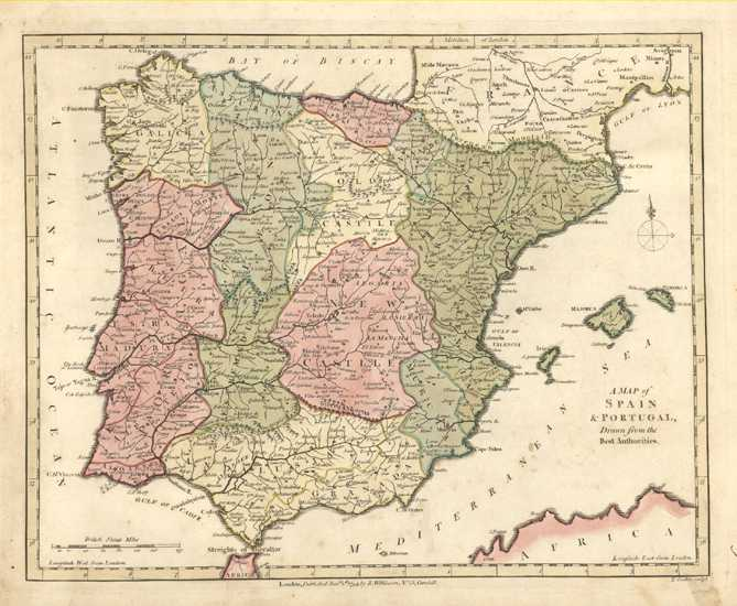 Spain & Portugal from the best authorities. R. Wilkinson c1794