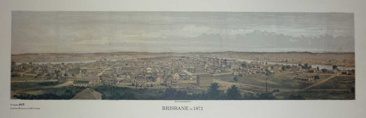 Brisbane in 1872 Limited Edition Heritage Editions print