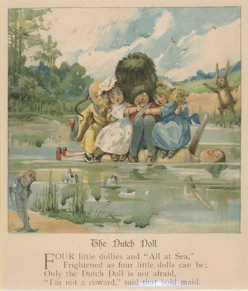 Dutch Doll. Bold maid saves friends. Weedon Lithograph c1910