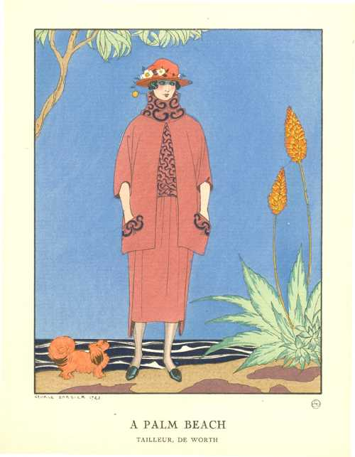 Palm Beach, George Barbier Gazette du Bon Ton fashion pochoir 1921