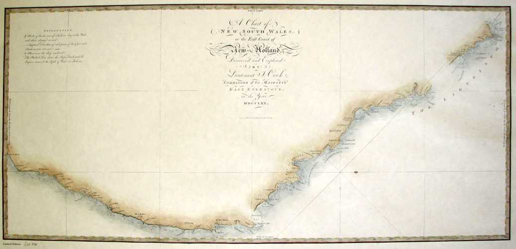 Captain Cook's New South Wales on the Coast of New Holland (Australia c1770)