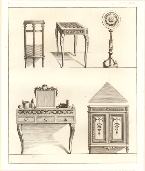 Fine French furniture by La Londe. Rapilly c1863