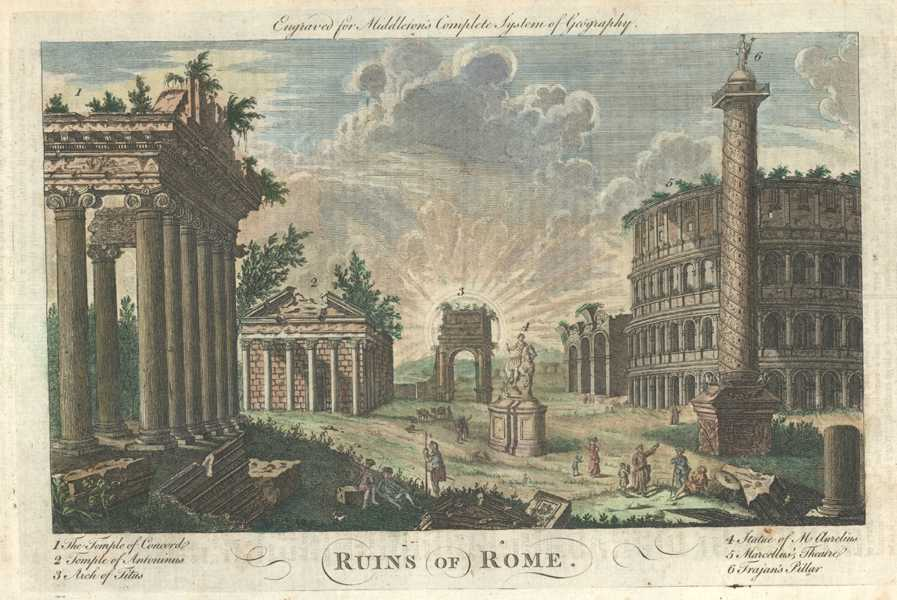 Ruins of Rome. Middleton's Complete System of Geography c1778.