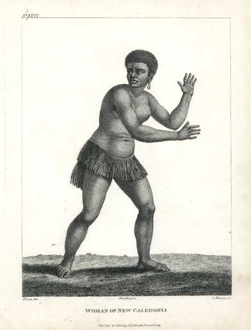 New Caledonia. Native Woman of New Caledonia. Debrett c1800