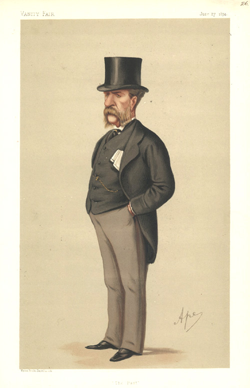 """The Past"" Carlo Pellegrini caricature for Vanity Fair. c1874."