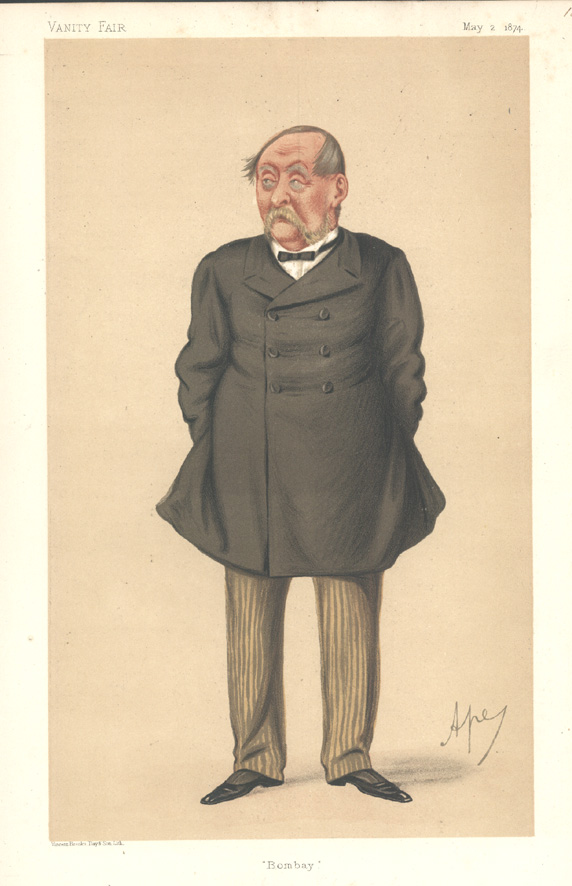 """Bombay"" Vanity Fair caricature, Sir William Robert Seymour. c1874."