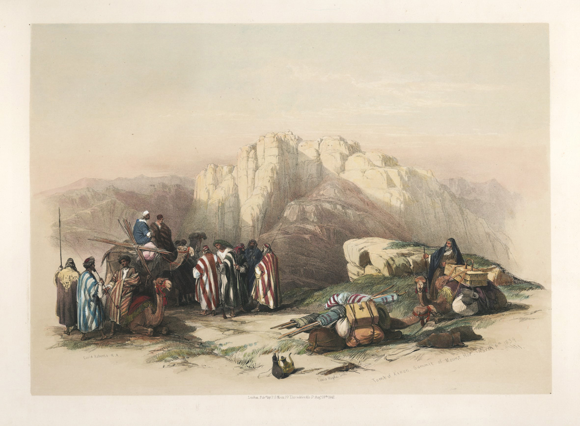 David Roberts' Holy Land. Tomb of Aaron, Summit of Mount Hor, 1839.