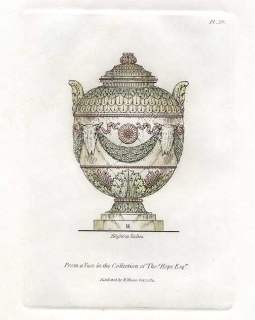 Antique print of Vase in Thomas Hope collection.