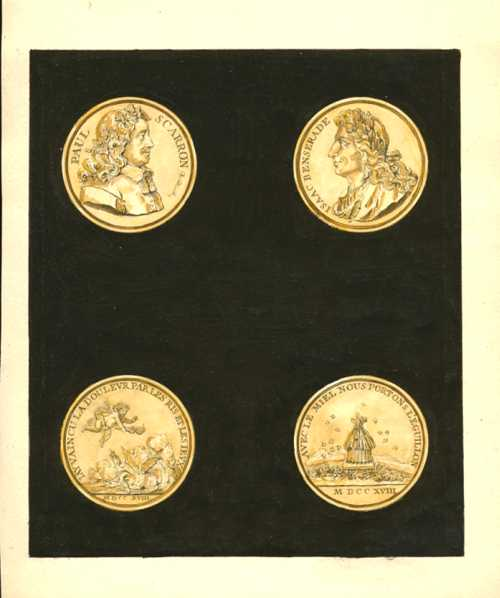Ancient Coins. Commemorative Coins engraved by Crepy. Tissot c1755. Plate 20