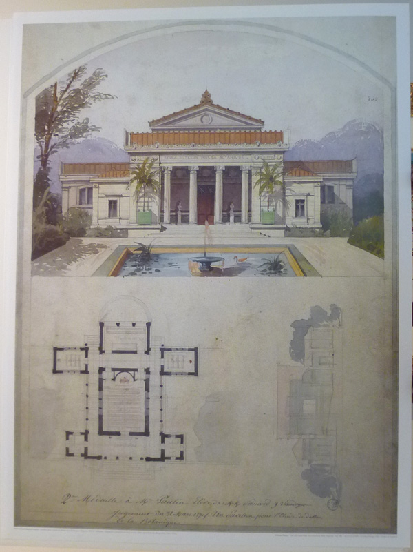 Elegant large Architectural scene.. would suit modern decor.