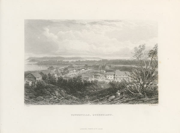 Townsville fine early engraving c1874 - as published.