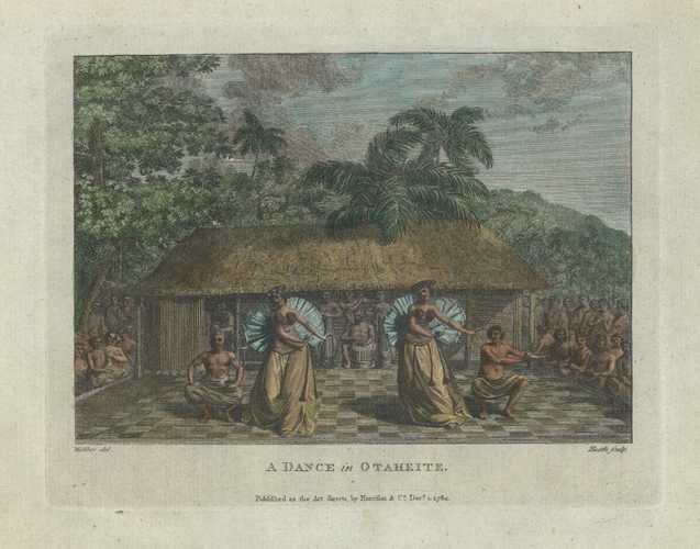 Tahiti. A Dance of Otaheite. Harrison c1790