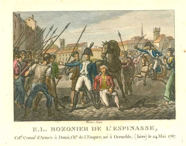 French Military. E.L. Bozonier De L'Espinasse. Military engraving c1810