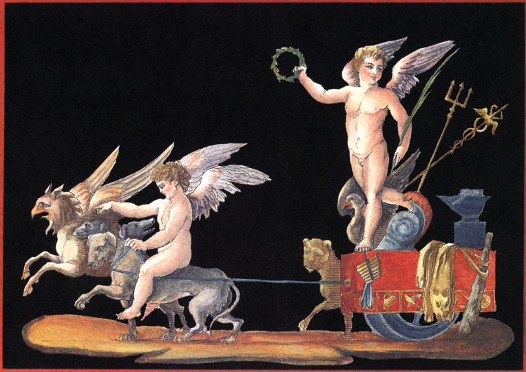 L'Amour Triomphant (Love Triumphant). Cherubs and a Chariot.
