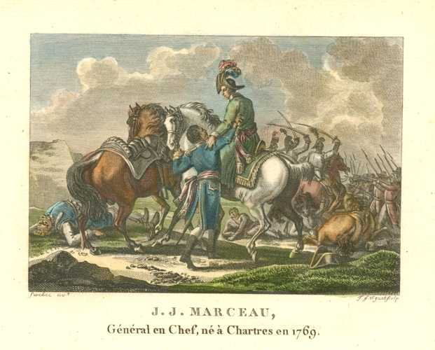 French Battle. Militaire Français J.J. Marceau, General en Chef. c1810