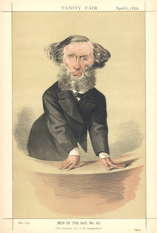 """The Scientific Use of the Imagination."" Tyndall caricature c1872."