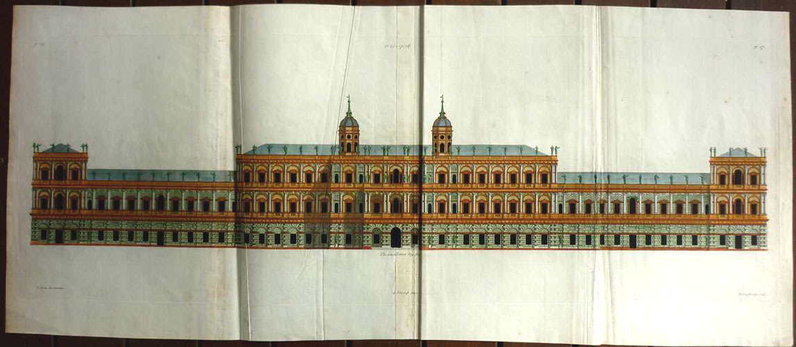Inigo Jones Architecture. Royal Palace, Whitehall p14-17. Engraving c1725