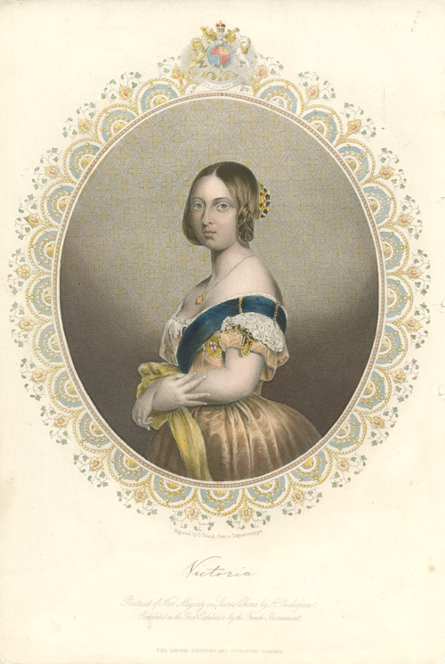 Victoria. Portrait of Her Majesty on Sevres. c1853.