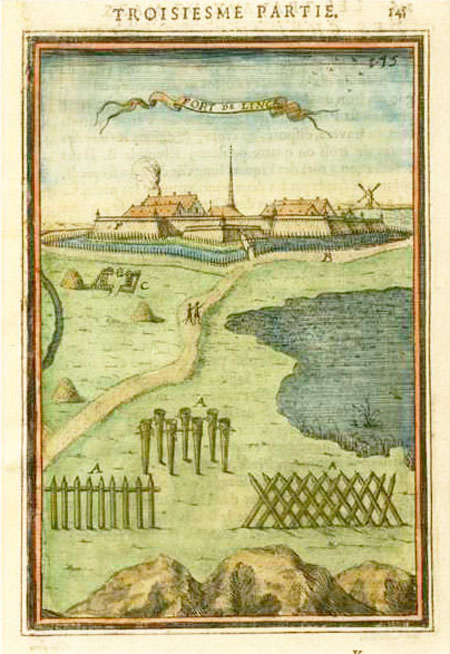 Fort de Linck, Barricades, The Art of War. Mallet c1684