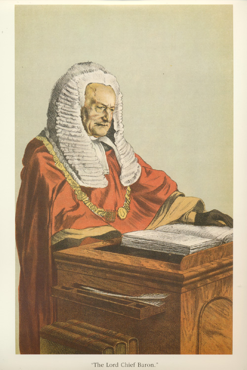 The Lord Chief Baron. Vanity Fair legal caricature.
