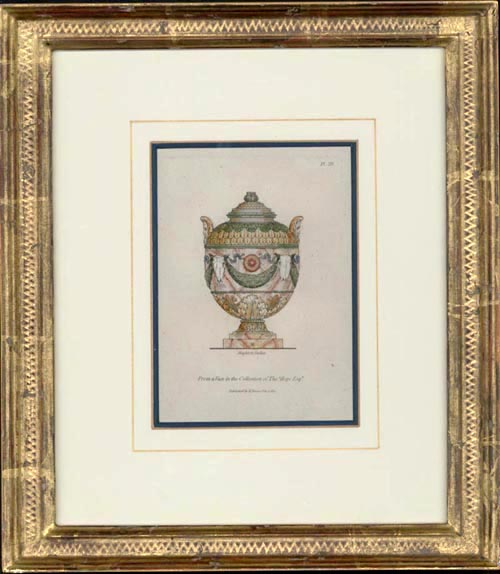 Beautifully framed Classical Antique Vase from Thomas Hope Collection. c1811.