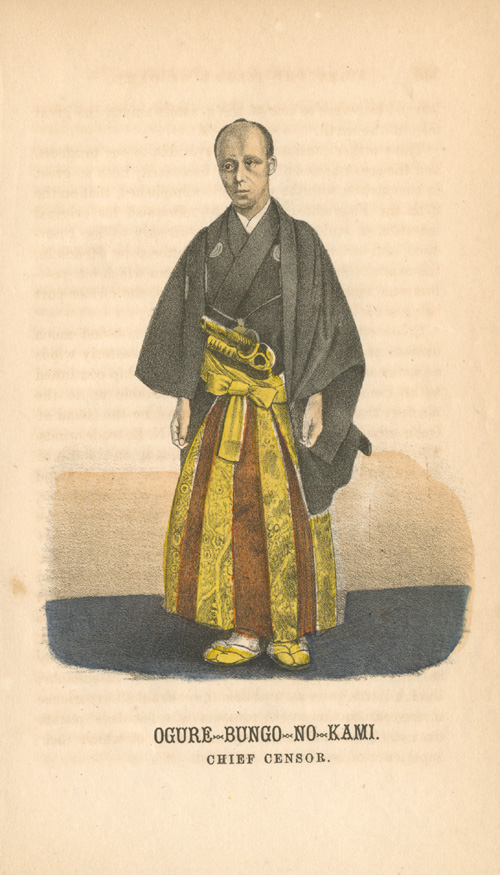 Japanese Chief Censor, Ogure-Bungo-no- Kami to first American Embassy. c1860