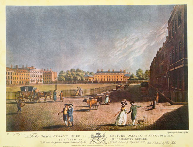 View of Bloomsbury Square, with Coaching. Large reproduction