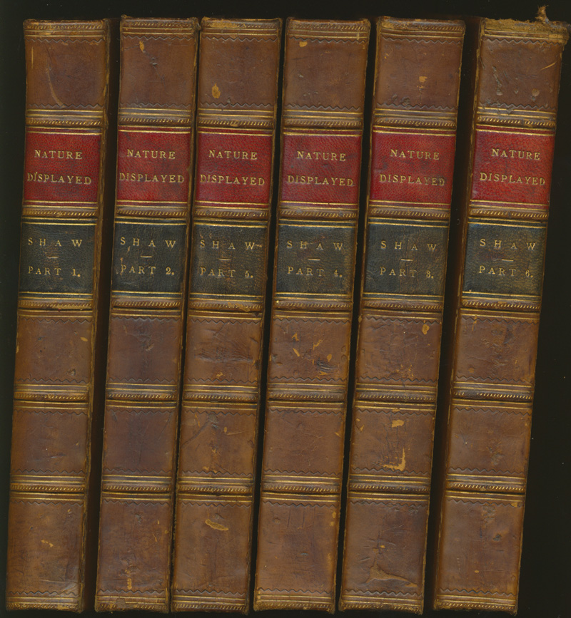Simeon Shaw, Nature Displayed 6 volumes. London 1823